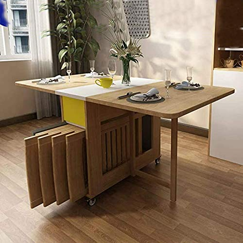 Shozafia Foldable Kitchen Table, Folding Dining Room Chairs