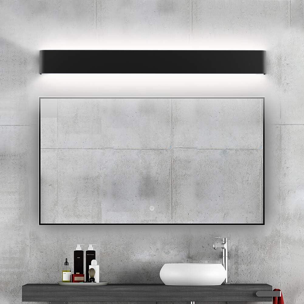 Ralbay Modern Black Bathroom Vanity, Modern Bathroom Light Fixtures Black