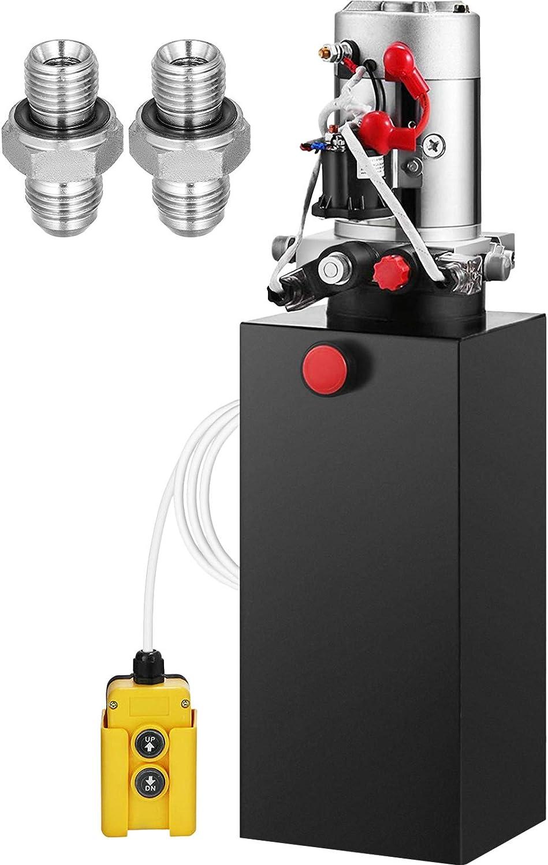Buy Mophorn Hydraulic Power Unit 8 Quart Hydraulic Pump Double Acting Hydraulic Power 12v Dc With Metal Oil Reservoir Hydraulic Pump Power Unit For Dump Trailer Car Lifting Online In Turkey B06y52tmy2