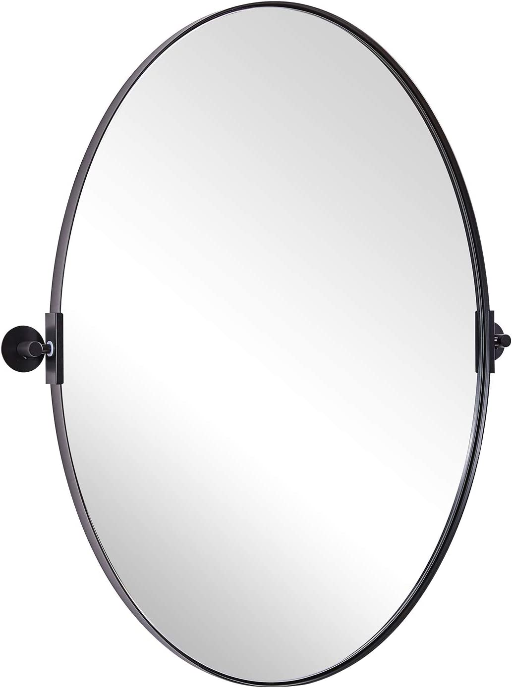 Buy Moon Mirror Oval Vanity Mirror 20x28 Black Oval Pivot Mirror For Bathroom In Stainless Steel Frame 1 Deep Set Design Wall Mounted Mirror Hangs Vertical Online In Turkey B08tzw92h9