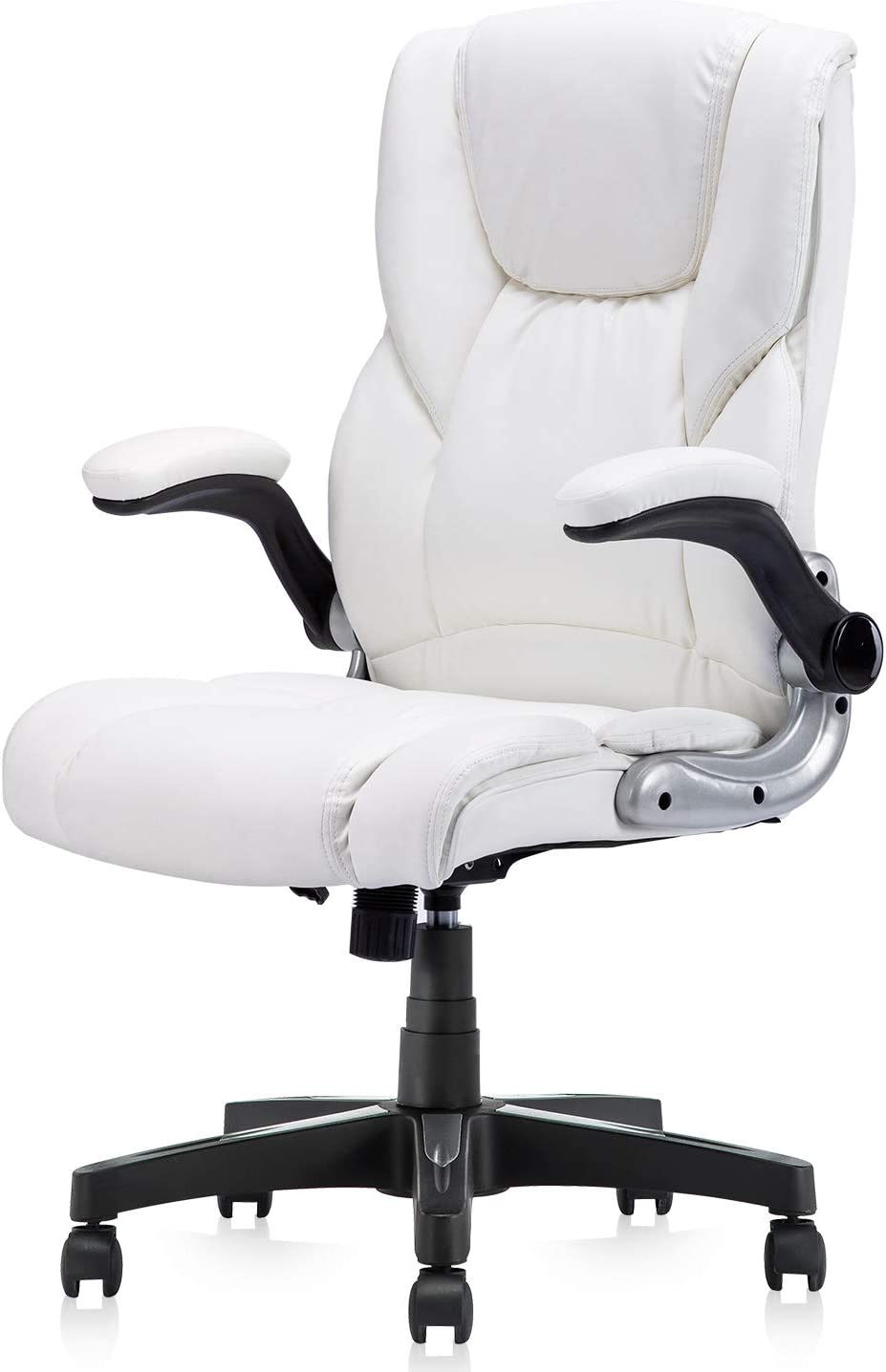 Arms Swivel Task Chair Gaming, White Computer Desk Chairs