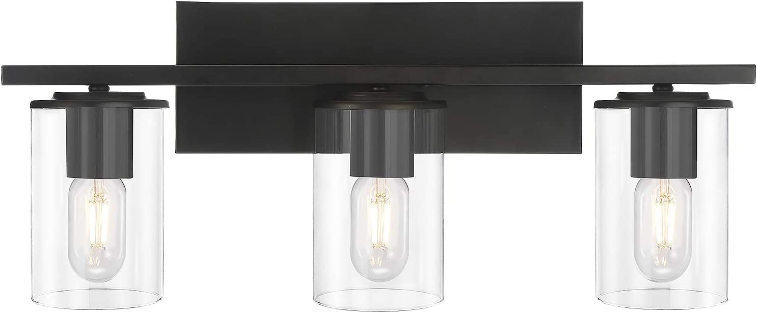 Black Modern Metal Wall Light Fixture, Modern Bathroom Light Fixtures Black And White