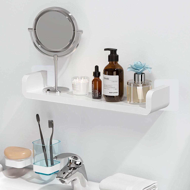 Laigoo Floating Shelf Adhesive Wall, Bathroom Ledge Shelf