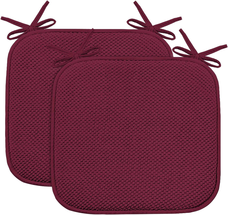Non Slip Memory Foam Seat Chair, Memory Foam Chair Pad 2 Pack
