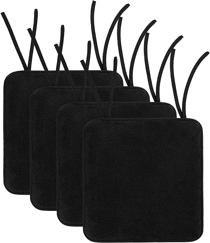 Smiry Chair Cushion Memory Foam, Memory Foam Chair Pads With Ties