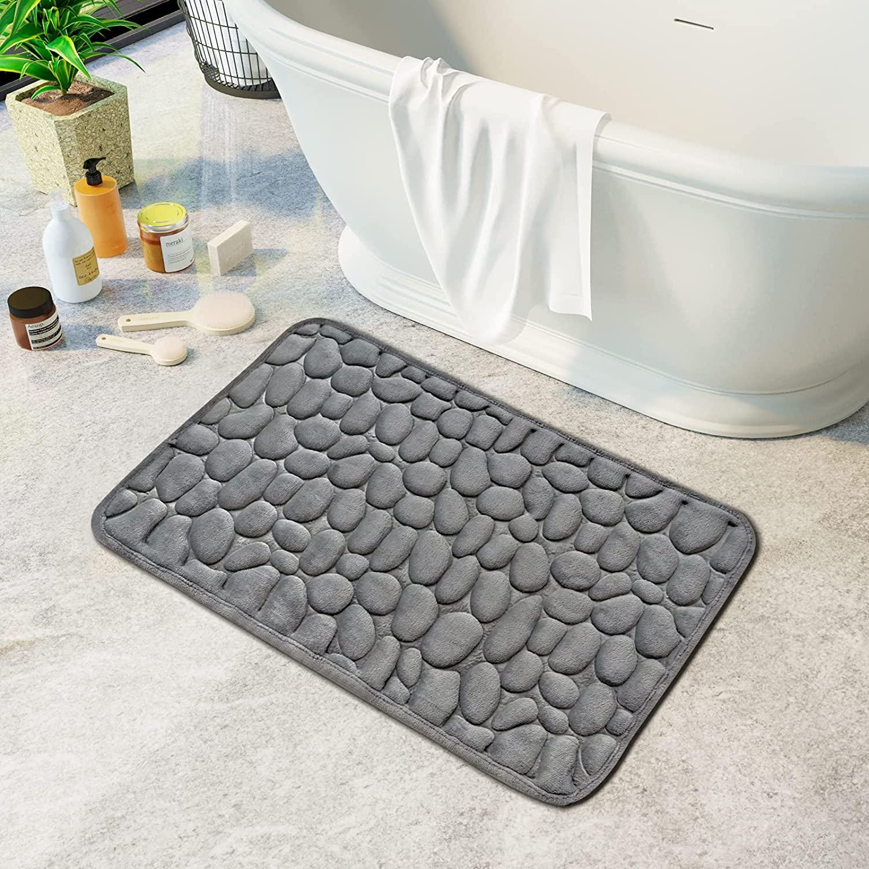 Memory Foam Bath Mat Cobblestone, Memory Foam Bathroom Rug