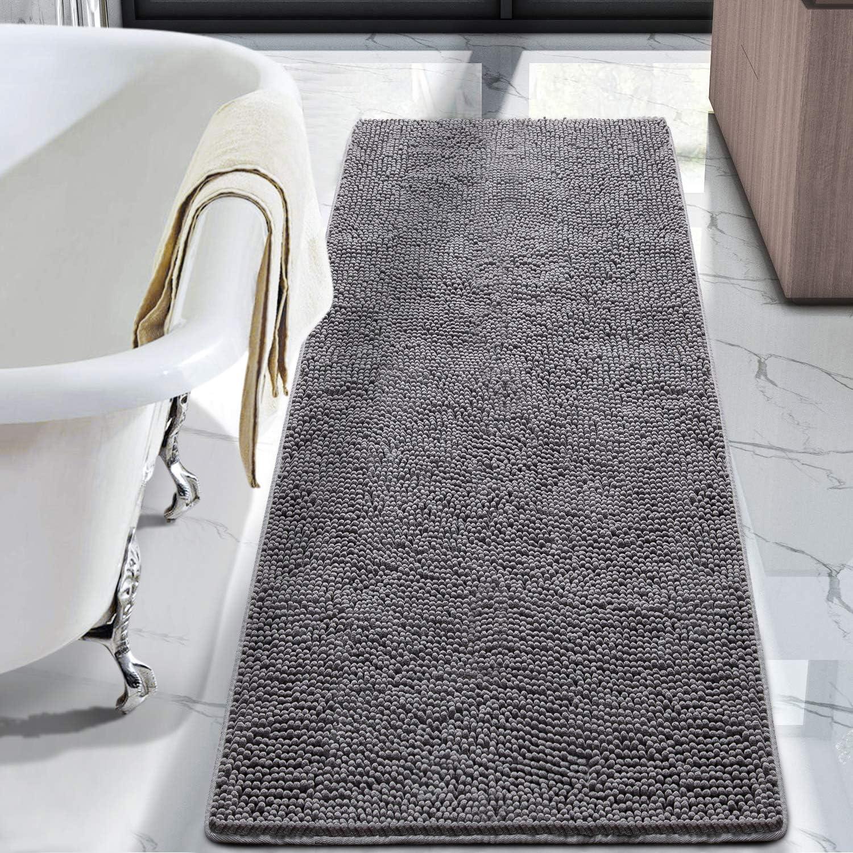 X 60 Inch Washable Non Slip Bath Rugs, 6×8 Bathroom Carpet