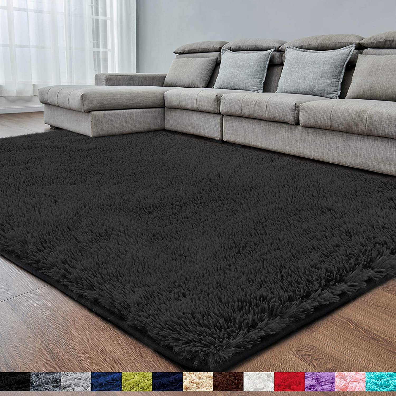 Bedroom 5x8 6 Fluffy Rugs Carpet, Soft Area Rugs For Living Room