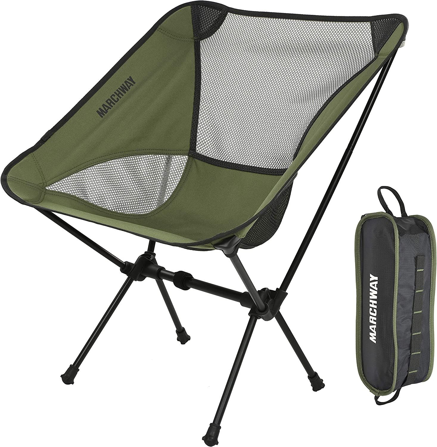 Buy MARCHWAY Ultralight Folding Camping Chair, Portable Compact for Outdoor  Camp, Travel, Beach, Picnic, Festival, Hiking, Lightweight Backpacking  Online in Turkey. B06XF3BCSG